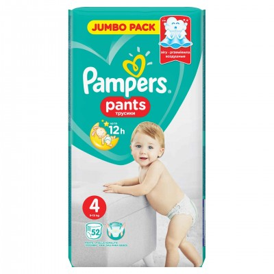 Scutece Pampers Premium Care Value Pack Marimea 4, 9-14 kg, 52 buc