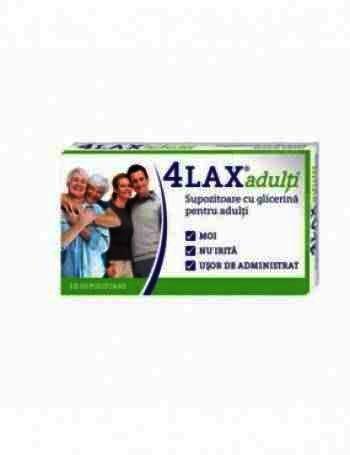 4Lax Supozitoare cu Glicerina Adulti x 10 - Solacium