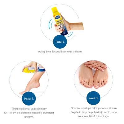 Spray antiperspirant Scholl Fresh Step, 150 ml