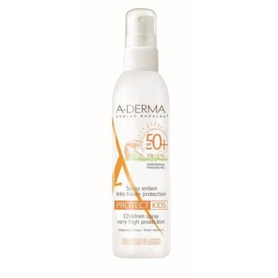 A-DERMA Protect Spray pentru copii cu inalta protectie solara SPF50, 200 ml