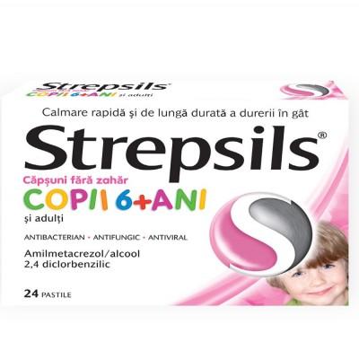 Strepsils Capsuni fara Zahar x 24 - Reckit