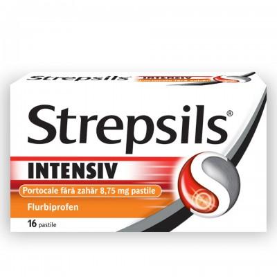 Strepsils Intensiv Portocala fara Zahar x 16 - Reckit
