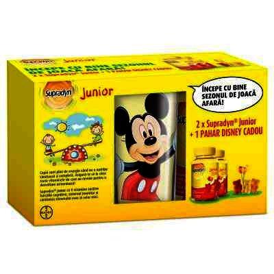 Supradyn Junior Ursuleti Gumati x 30 - Bayer x 2 + Pahar Disney (Oferta)