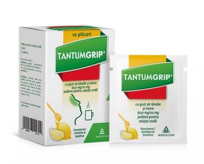Tantumgrip Lamaie-Miere 600mg/10mg - pulb.sol.orala - plc. x 10 -Angelini