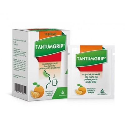 Tantumgrip Portocala 600mg/10mg - pulb.sol.orala - plc. x 10 -Angelini