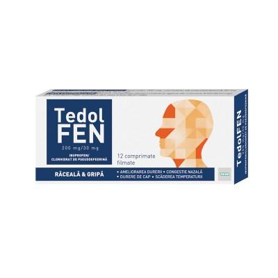 Tedolfen 200 mg/30 mg -cpr.film x 12 - Teva