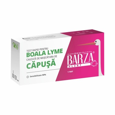 Test Rapid BARZA ALERT pentru Boala Lyme cauzata de muscatura de capusa