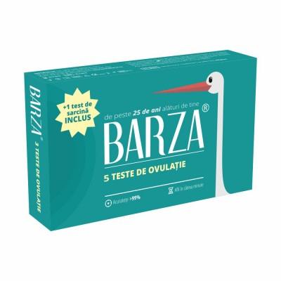 Test rapid de ovulatie Barza, cutie cu 5 teste si 1 test de sarcina inclus