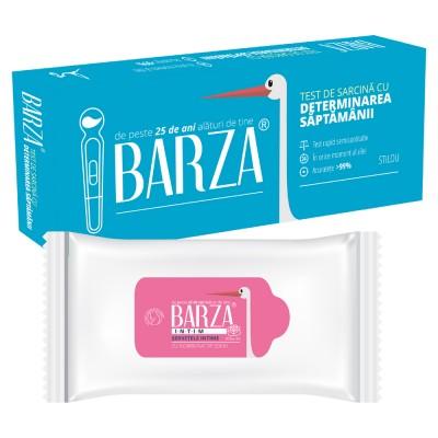 Test Sarcina Barza cu determinarea saptamanii + Servetele Intime cu bicarbonat de sodiu (cadou)