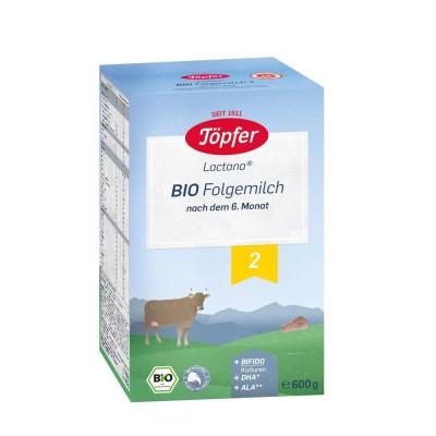 Topfer Lapte Bio nr. 2 x 600 g