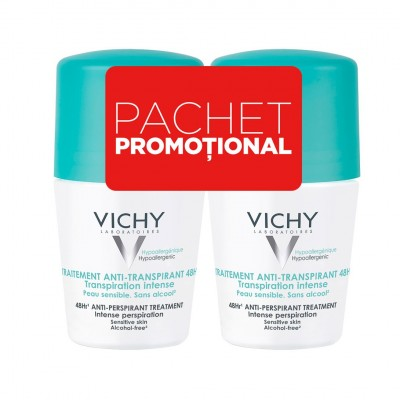 Vichy Bipack Roll-On Antiperspirant Efic 48H cu Parfum (2x 50 ml)