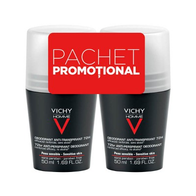 Vichy Bipack Roll-On Homme Eficacitate 72H (2 x 50 ml)