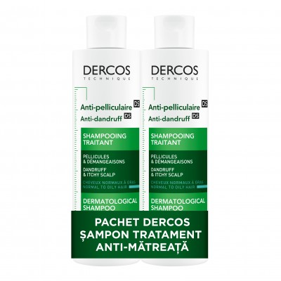 Vichy Dercos Sampon Antimatreata Par Normal-Gras x 200ml (1+1*75% Oferta)