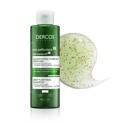 VICHY Dercos Șampon Antimătreață Purificator K