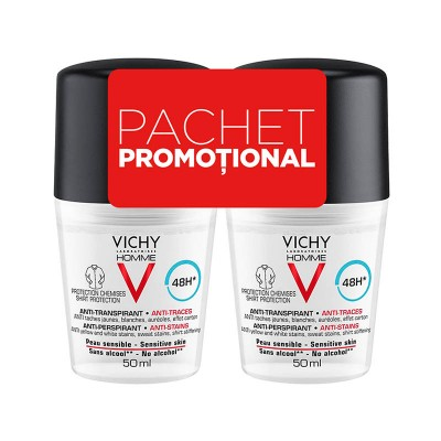 Vichy Homme Roll-on 48h Anti-Urme x 50 ml (1+1 Oferta)