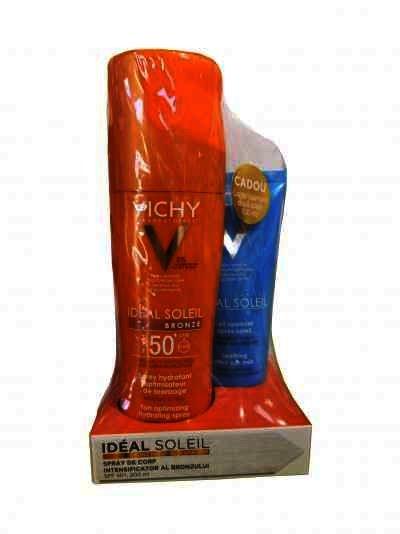 Vichy Ideal Soleil Spray Bronze SPF50 x 200 ml + Lapte Gel Apres Soleil x 100 ml