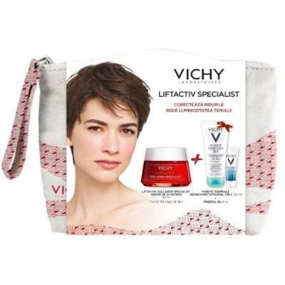 Vichy Liftactiv Collagen x50ml+Purete Thermale Demachiant 3in1x100ml+Mineral 89x4ml+Borseta(Cadou)