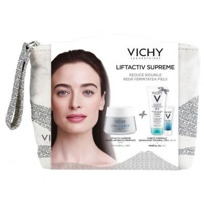 Vichy Liftactiv Supreme PNMx50ml+Purete Thermale Demachiat 3in1x100ml+Mineral 89x4ml+Borseta (Cadou)