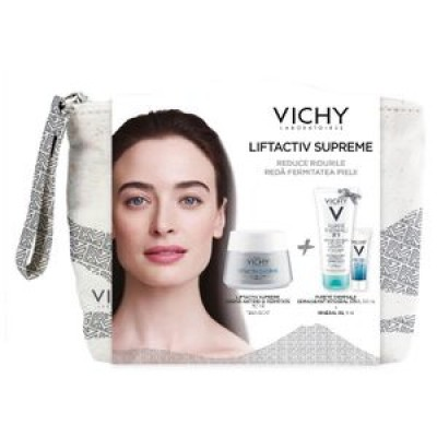 Vichy Liftactiv Supreme PSx50ml+Purete Thermale Demachiat 3in1x100ml+Mineral 89x4ml+Borseta (Cadou)