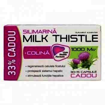 Zdrovit Milk Thistle Silimarina + Colina -cps x 30 + 33% (Oferta)