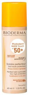 Bioderma Photoderm Nude Touch Claire SPF 50+ nuanta deschisa x 40 ml + Burete