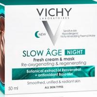 Vichy Slow Age Crema De Noapte Si Masca De Fata Cu Efect Racoritor Pentru Toate Tipurile De Ten 50ml