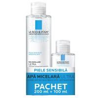 La Roche Posay Apa Micelara Ultra Piele Sensibila x 200ml + Apa Micelara x 100 ml(Cadou)