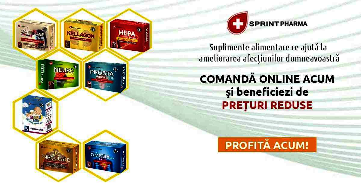 15% reducere la suplimentele alimentare Sprint Pharma selecționate