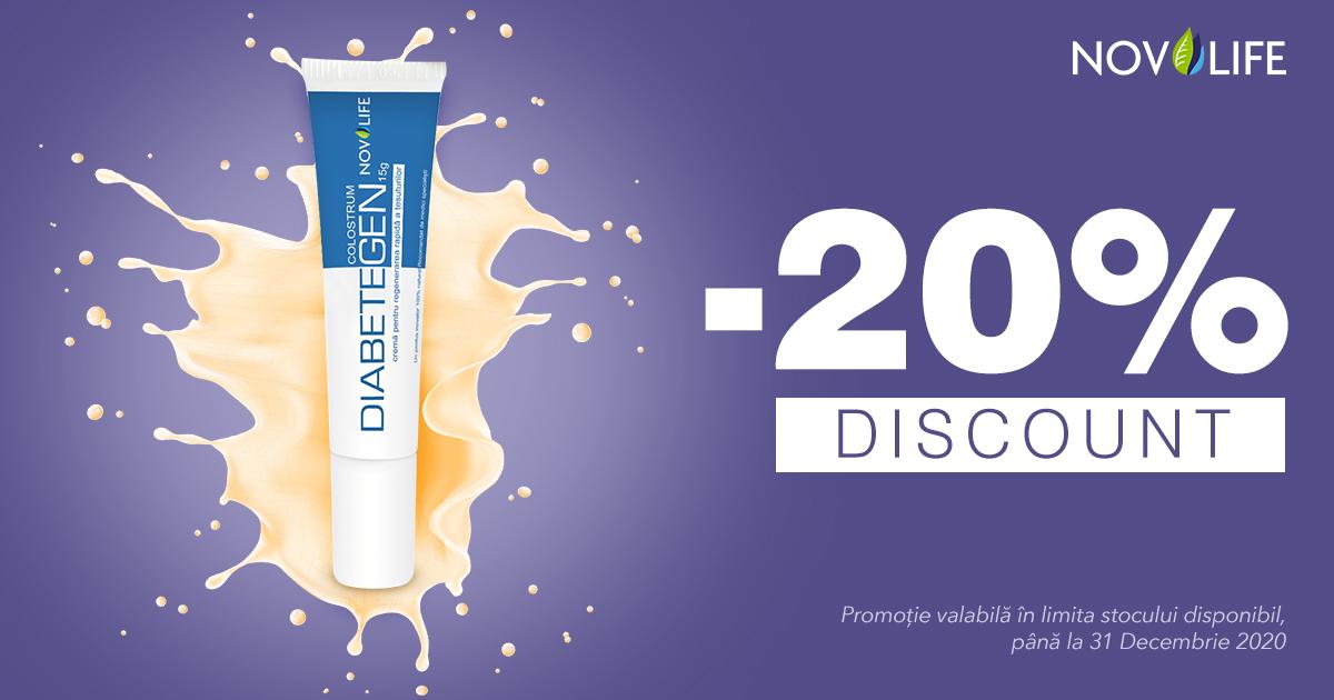 20% reducere la crema pentru regenerarea tesuturilor Diabetegen