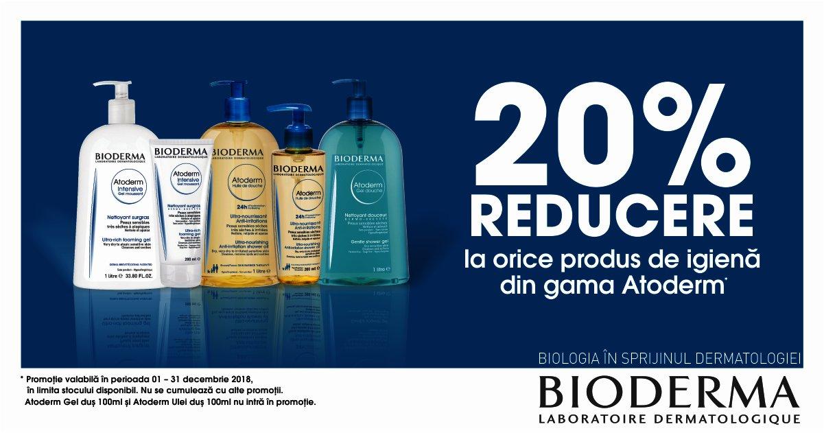 20% reducere la gama Bioderma Atoderm