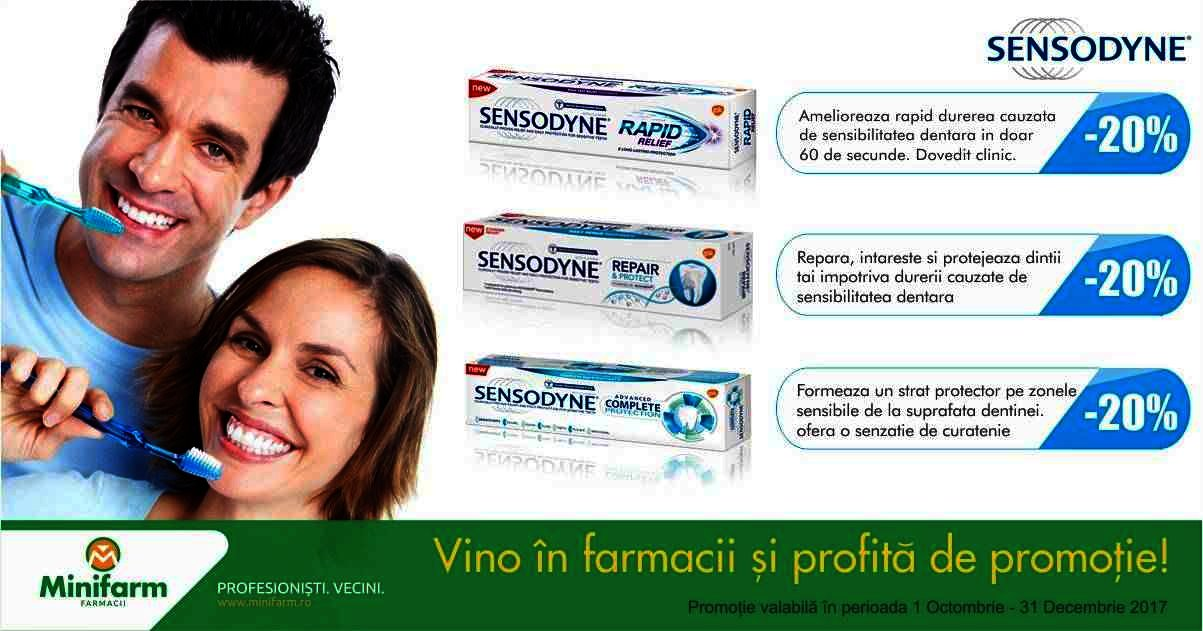 20% reducere la pastele de dinți Sensodyne