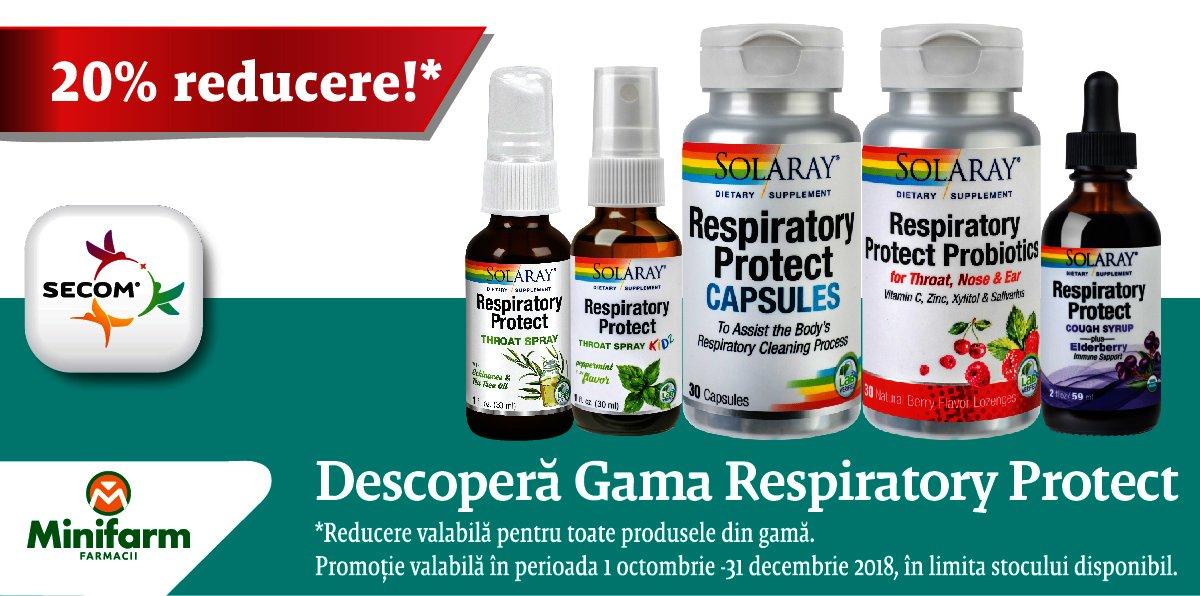 20% reducere pentru Gama Respiratory Protect de la Secom®!