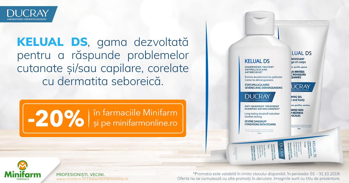20% reducere pentru produsele selecționate din gama Ducray Kelual!
