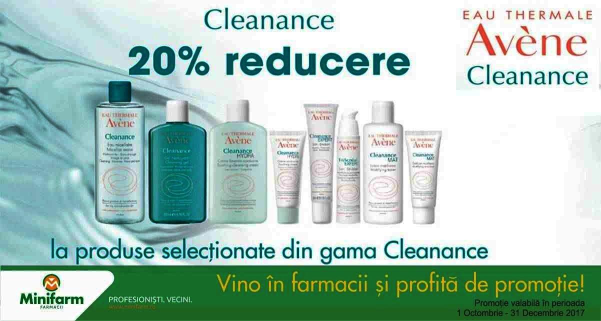 20% reducere la produsele din gama Avène Cleanance