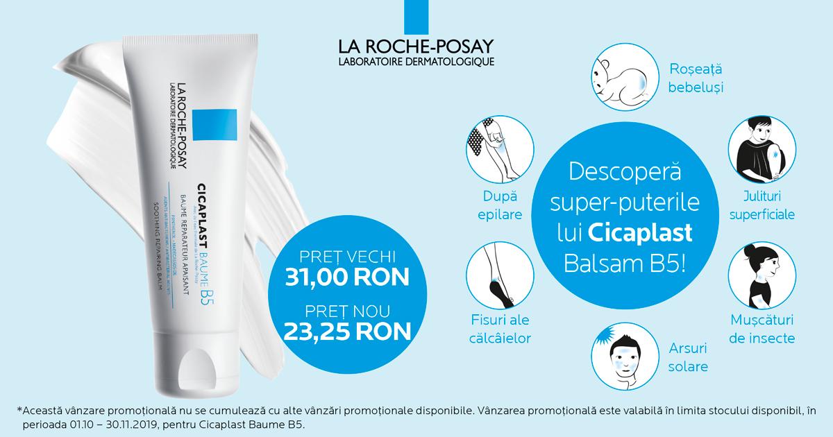 25% reducere pentru Balsam Reparator Calmant La Roche-posay Cicaplast B5