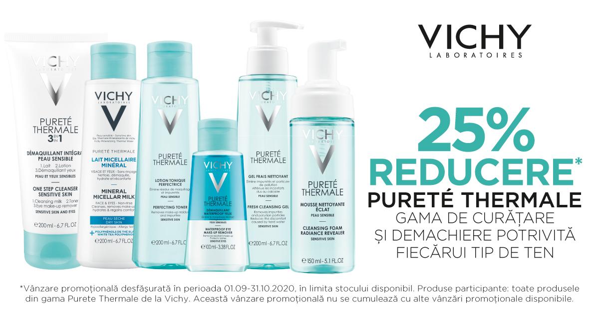 25% reducere pentru gama Vichy Purete Thermale
