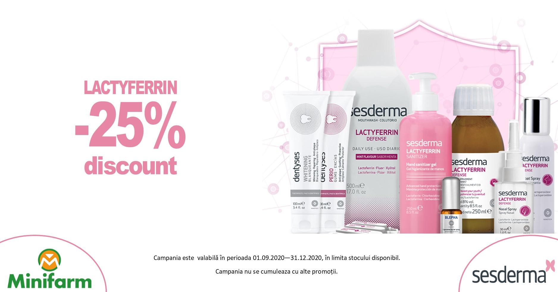 25% reducere pentru produsele din gama Sesderma Lactyferrin