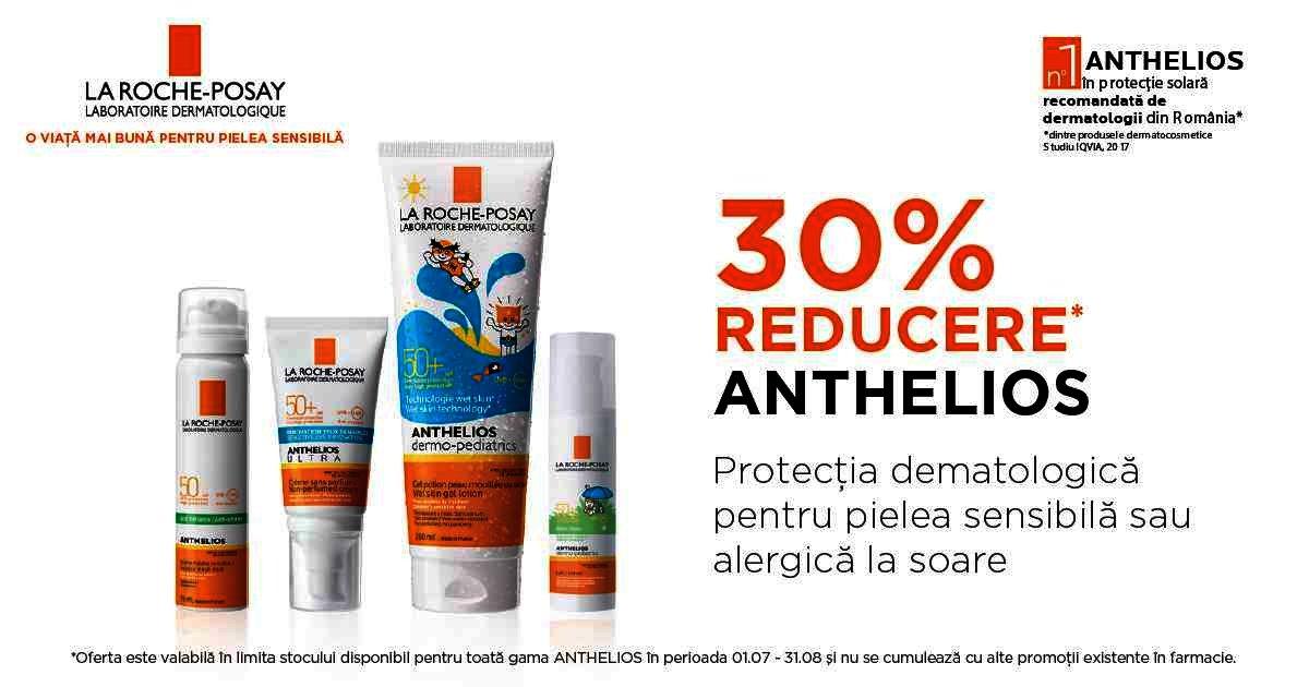 30% reducere la gama La Roche-Posay Anthelios