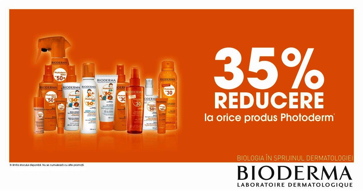 35% reducere la gama de produse Bioderma Photoderm!