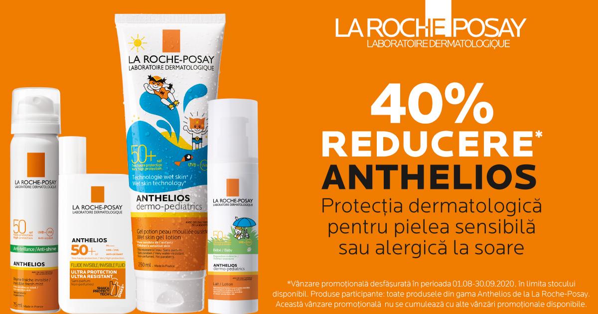 40% reducere la produsele pentru protectie solara La Roche Posay Anthelios