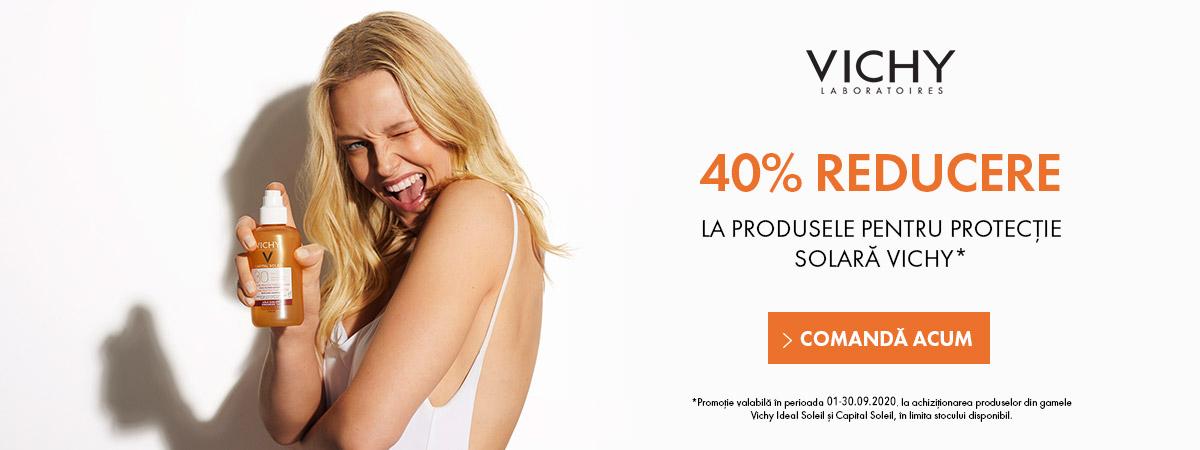 40% reducere la produsele pentru protectie solara Vichy