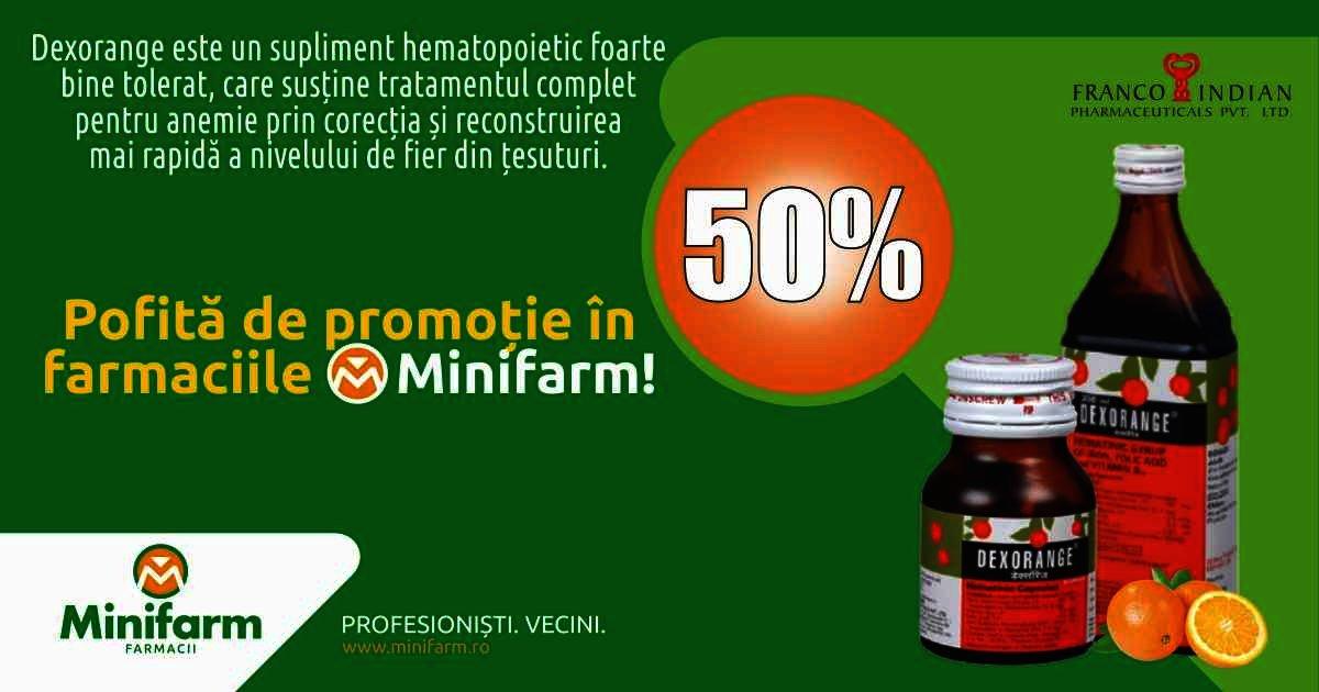 50% discount la suplimentele hematopoietice Dexorange
