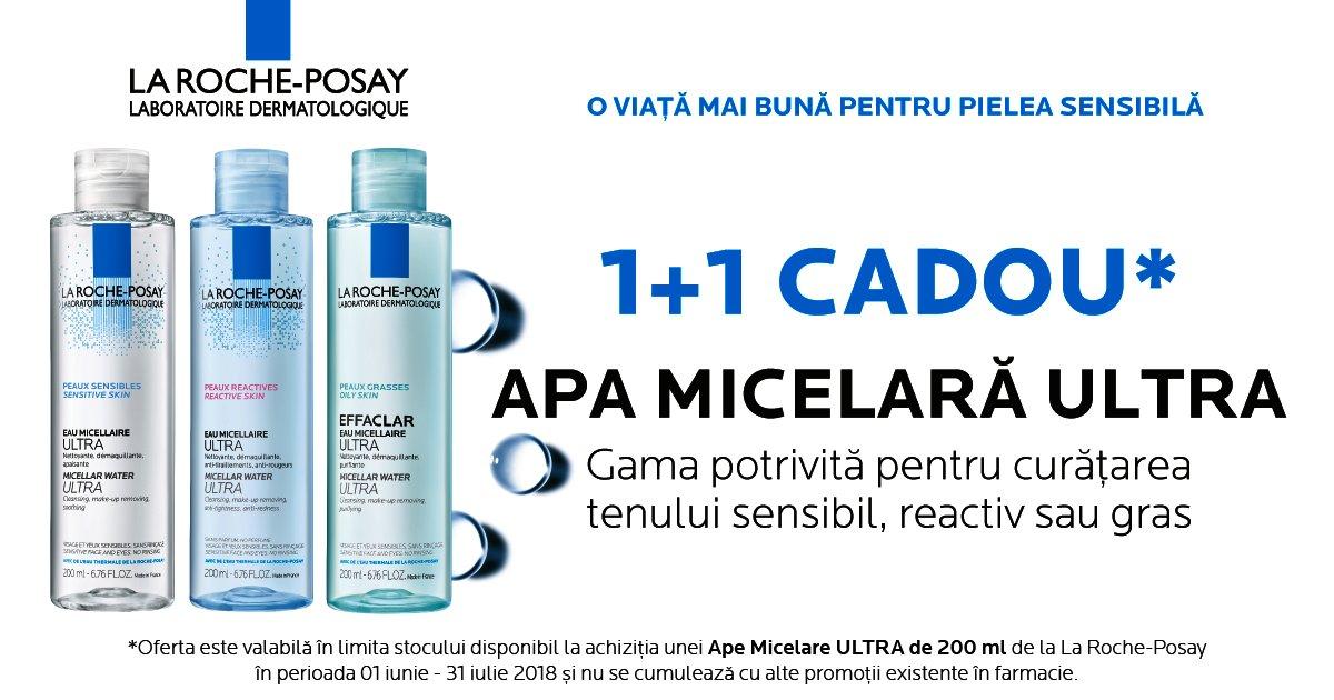 Apa Micelara La Roche-Posay 1 + 1 CADOU