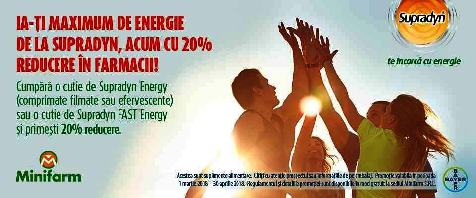 Ia-ți maximum de energie de la Supradyn!