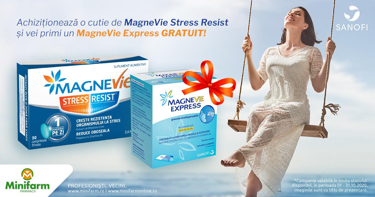 Orice cutie de MagneVie Stress Resist are CADOU o cutie de MagneVie Express