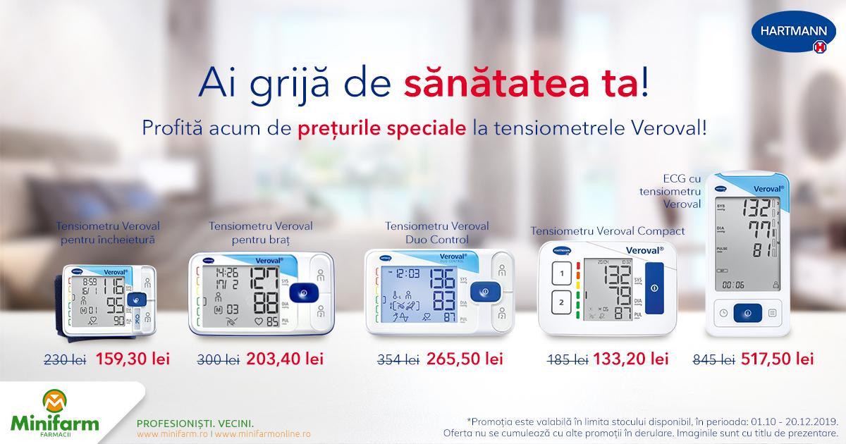 Profită acum de prețuri speciale la tensiometrele Hartmann Veroval!